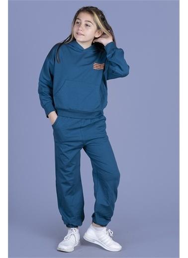 Toontoy Kids Toontoy Kız Çocuk Göğsü Baskılı Takım Renkli